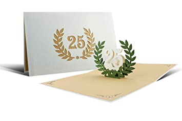 Gluckwunschkarte Zur Silbernen Hochzeit 25 Jahre Silberhochzeit