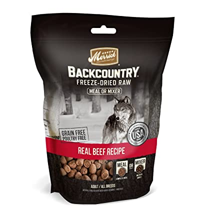 Merrick Backcountry Grain Free Dried Raw Meal Mixer Dog Food