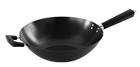 Imusa PAN-10042W Coated Wok with Triangle Handle, 14-Inch by Imusa ...