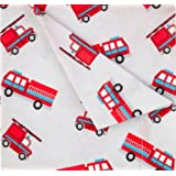 Kute Kids Super Soft Sheet Set - Fire Trucks - Brushed Microfiber for extra comfort … (Twin)
