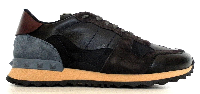 Valentino Garavani Zapatillas para Hombre Camouflage BLU: Amazon.es: Zapatos y complementos