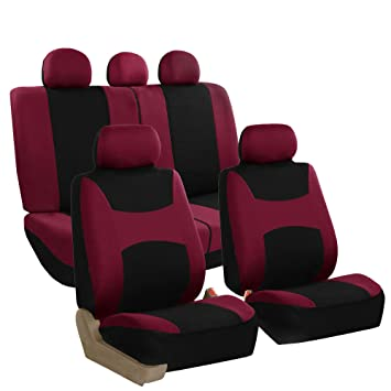 Prime Fh Group Fb030Burgundy115 Full Seat Cover Side Airbag Compatible With Split Bench Burgundy Dailytribune Chair Design For Home Dailytribuneorg