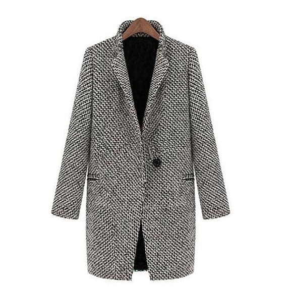 2311f9a4ea29 Manteau des Femmes d automne, Moonuy Femmes d hiver Slim Fit Warm Laine  Revers Long Coat Veste de Mode de Trench Parka de Couleur Unie Manteau Plus  épais  ...