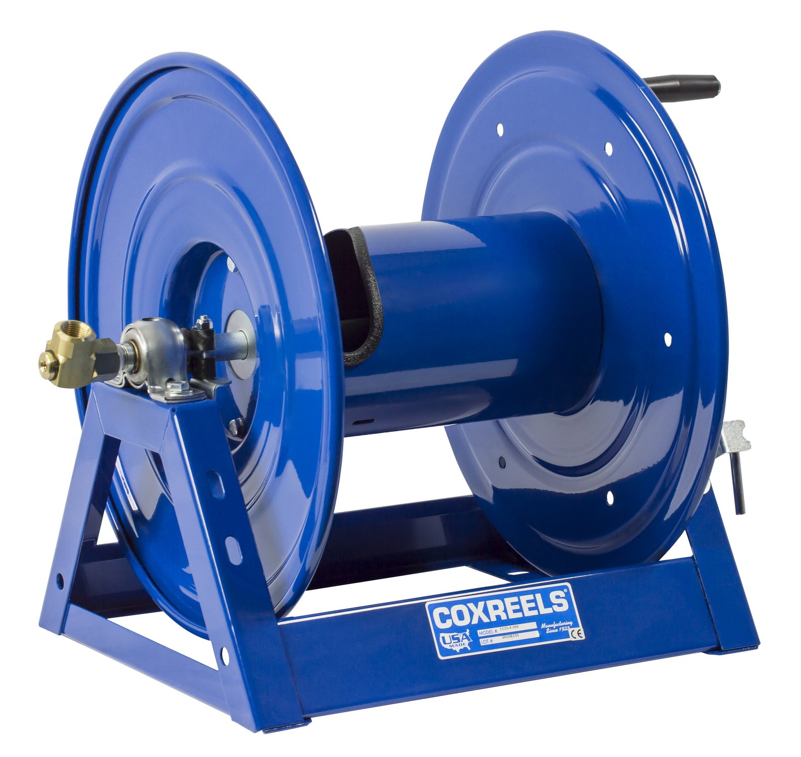 Coxreels 1125-4-100 Steel Hand Crank Hose Reel, 1/2'' Hose I.D., 100' Hose Capacity, 3,000 PSI, without Hose, Made in USA by Coxreels (Image #2)