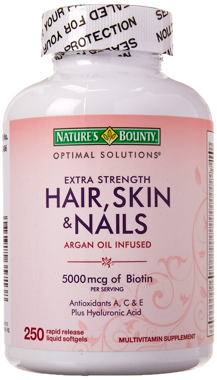 Nature's Bounty Extra Strength Hair Skin Nails 250 Soft ...