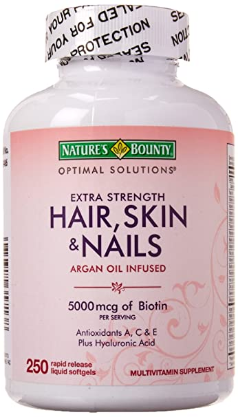 Amazon.com: Nature\'s Bounty Extra Strength Hair Skin Nails, 250 ...