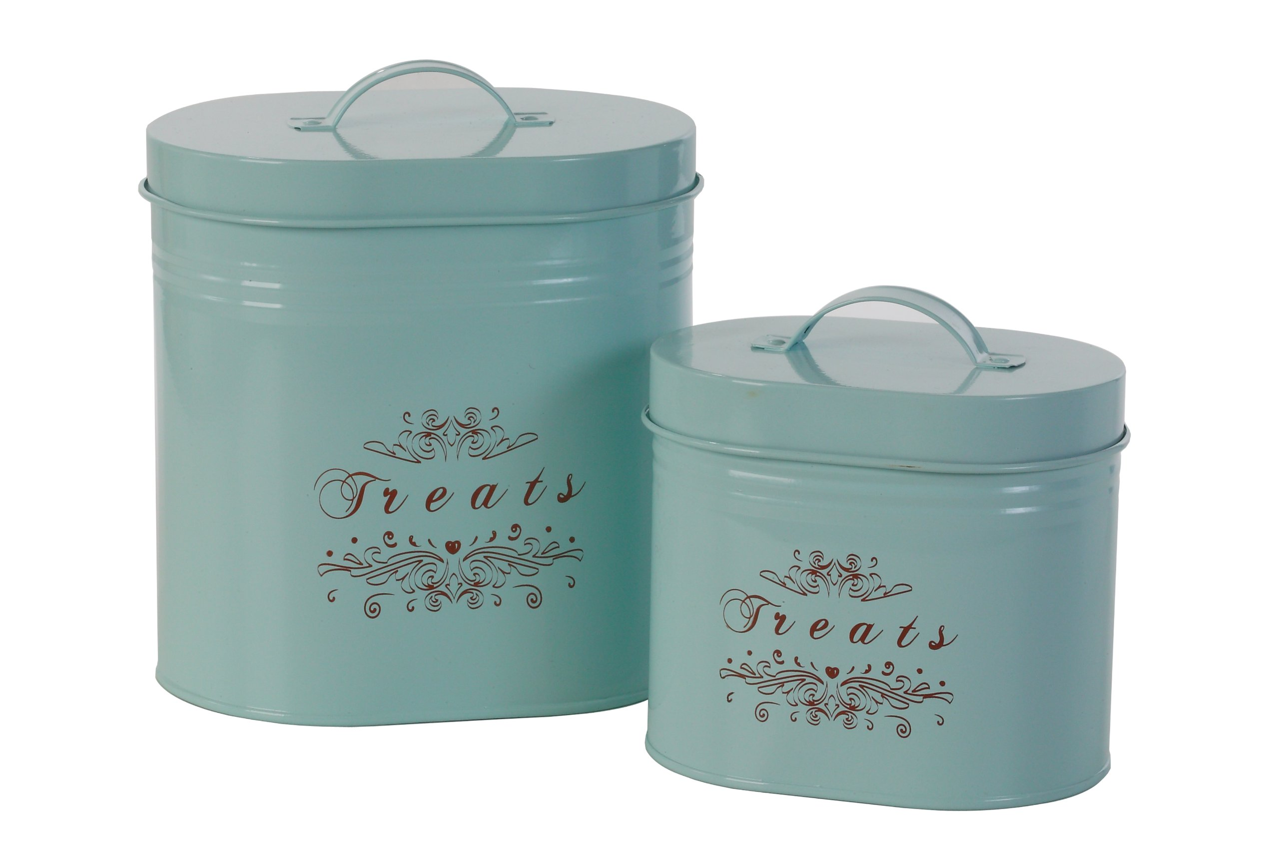 One for Pets ''Treats'' Canister Set of 2 , Blue  1.5lbs & 2.8lbs