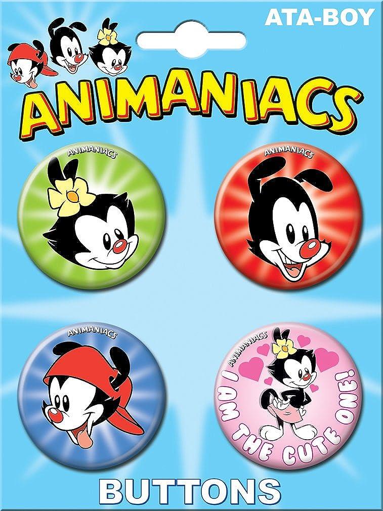 Ata-Boy Animaniacs Set of 4 1.25 Collectible Buttons