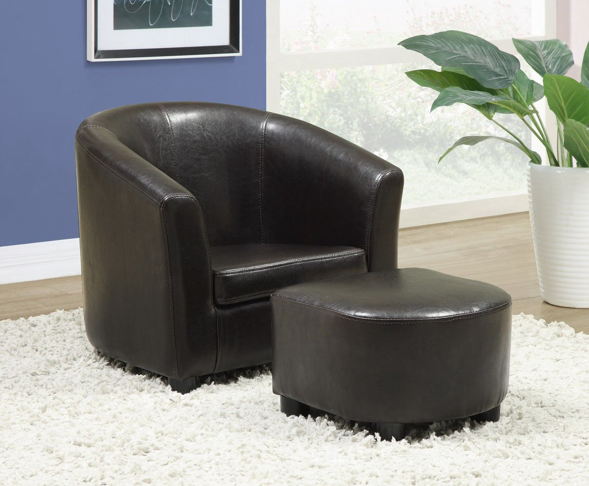 Amazon.com: Monarch Specialties Leather-Look Juvenile Chair ...