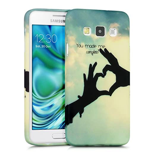 35 opinioni per kwmobile Cover per Samsung Galaxy A3 (2015)- Custodia in silicone TPU- Back case