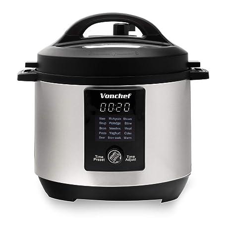 Amazon.com: Vonchef 6 Quart 15 en 1 - Olla a presión ...