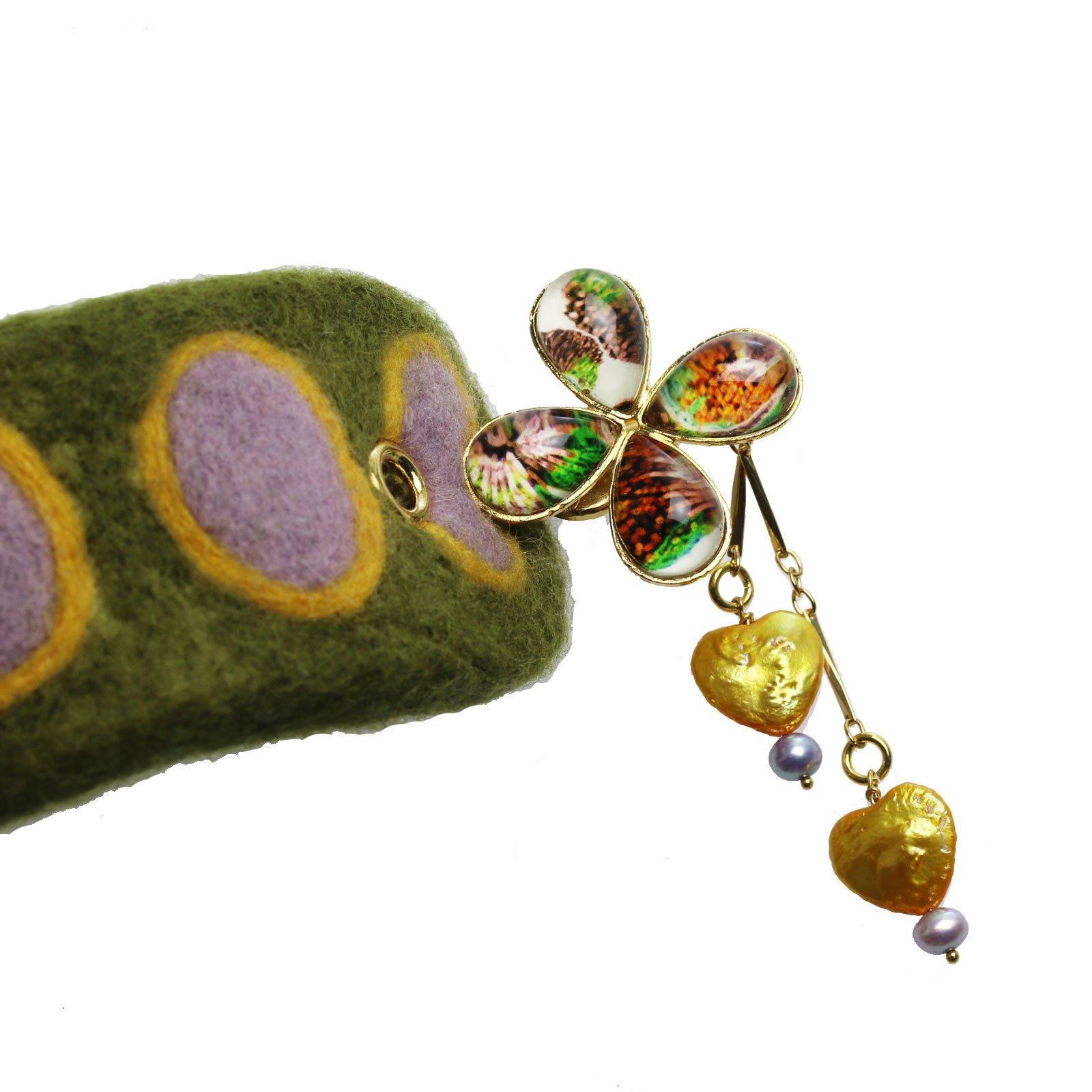 Tamarusan Hair Pin Barretta Handmade Hair Ornament Hair Stick Felt