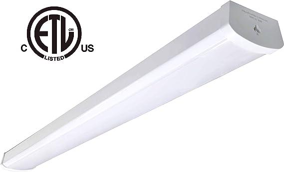 48w Linkable Led Wraparound Flushmount Light 4ft Led Shop Light