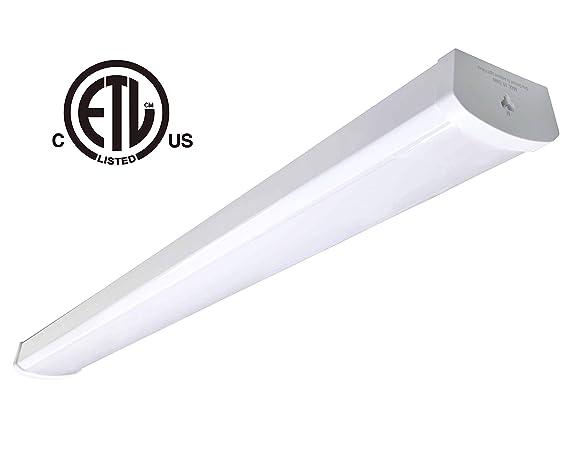 Led Shop Lights >> 48w Linkable Led Wraparound Flushmount Light 4ft Led Shop Light 4800lumens 5000k Cetl Listed Certified Led Wrap Light Led Linear Indoor Lights Led