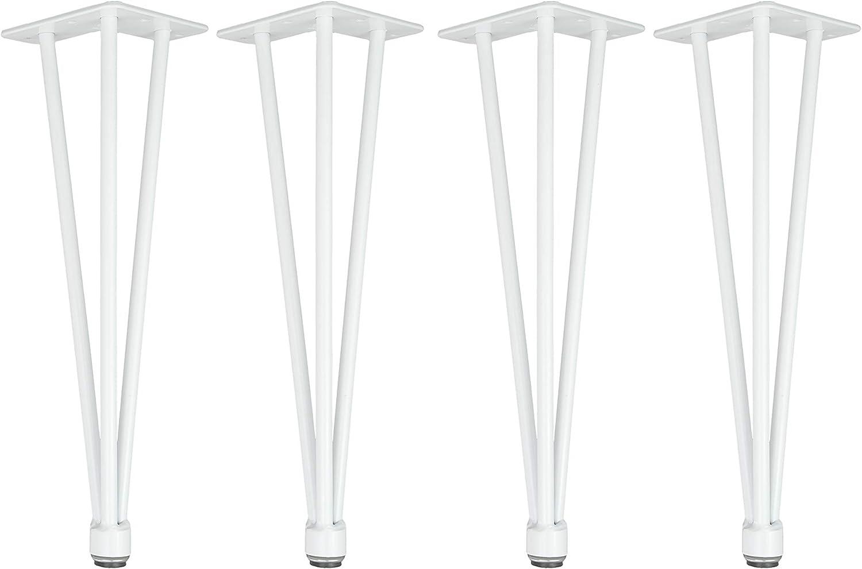Tischgestell 12mm Stahl Esstisch Tischbeine H/öhenverstellbar 4x Natural Goods Berlin Hairpin Legs Adjustable 35cm - 3 Streben - niedriger Couchtisch, Schwarz Schreibtisch Tischkufen DIY