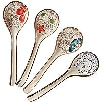 Ceramic Soup Spoon 4 Pcs Hand Made