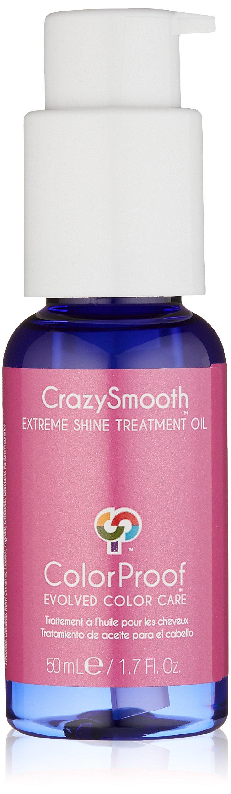 ColorProof Evolved Color Care Crazysmooth Extreme Shine Treatment Oil, 1.7 Fl Oz