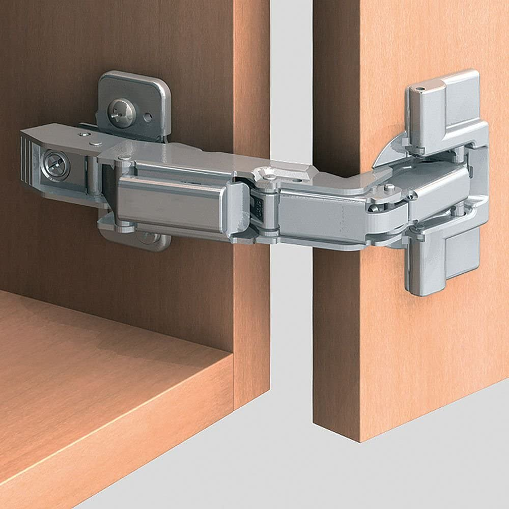 Blum Inc 71t6650 Clip Top Partial Overlay Screw On Cabinet Door Hinges With 170 Degree Opening Angle And Self Close Function Nickel Plated Cabinet And Furniture Hinges