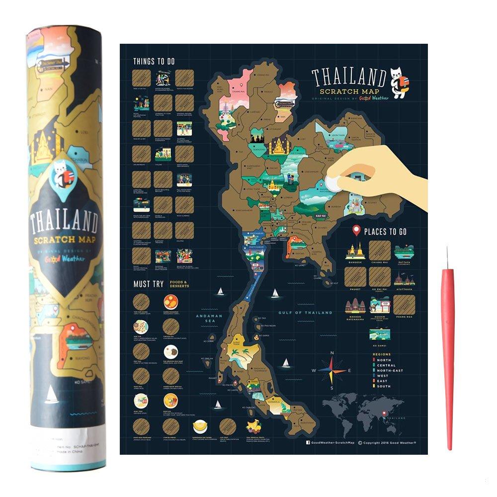 Mcbazel Landkarte Zum Rubbeln 40 x 30 cm Japan-Serie Personalisierte Poster Reise Karte mit kostenlosem Rubbel-Stift