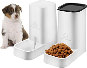 Nuluphu Dog or Cat Automatic Feeder Water Dispenser Set, Food Bowl Cat Food Container for Small, Medium and Large Cats and Dogs Food and Water Distribution(2 PCS)