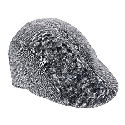 Aikesi Unisexe Béret Rétro Élégant Tricoté Chapeau de Cotton Hommes et Femmes Chapeau