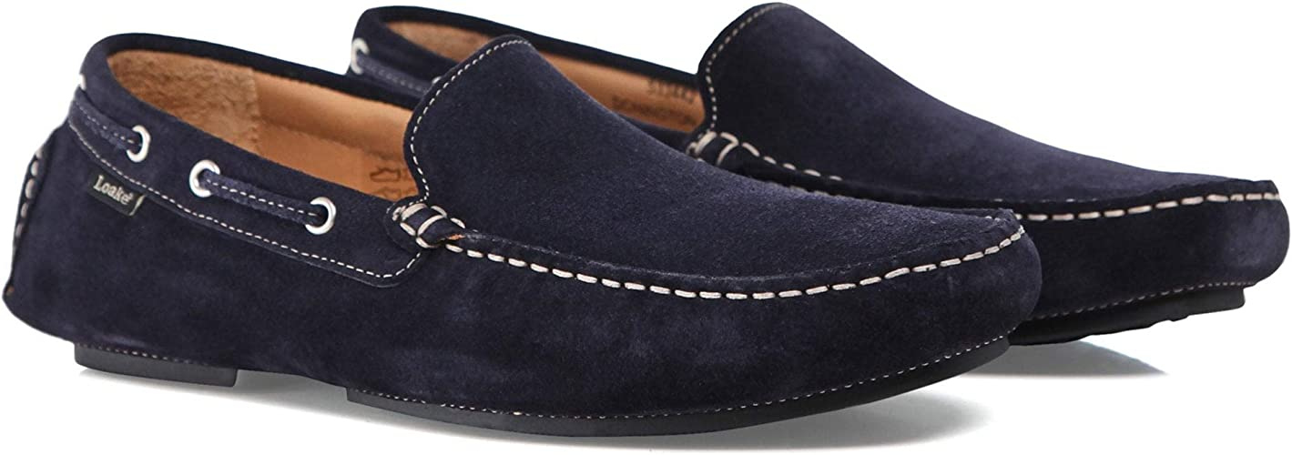 Suede Donnington Driving Shoes Navy