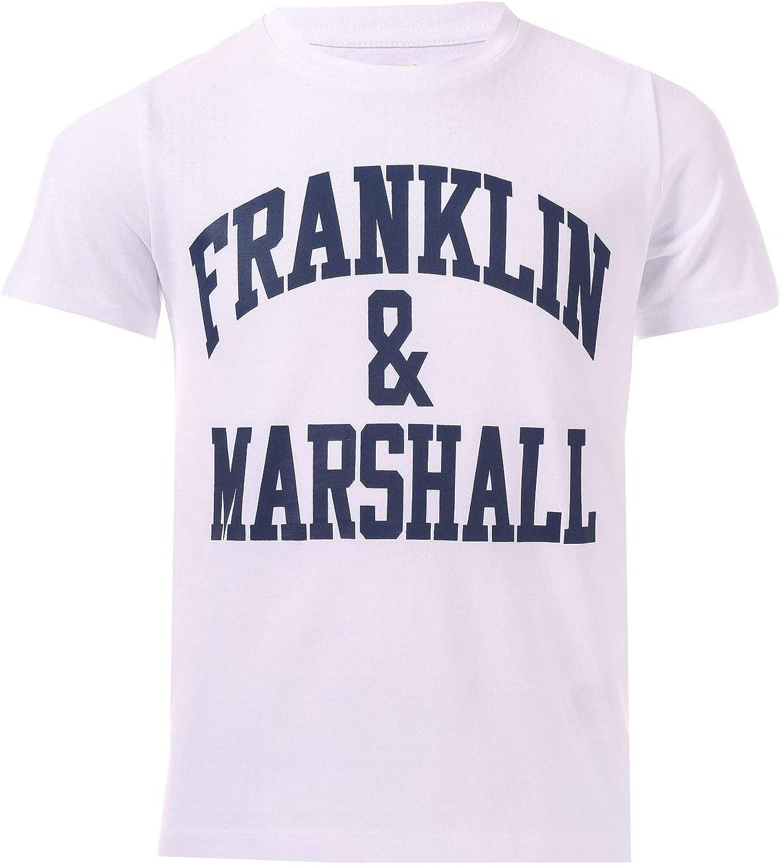 Neonato Ragazzi Franklin And Marshall Core Logo Polo in Bianco-Manica Corta
