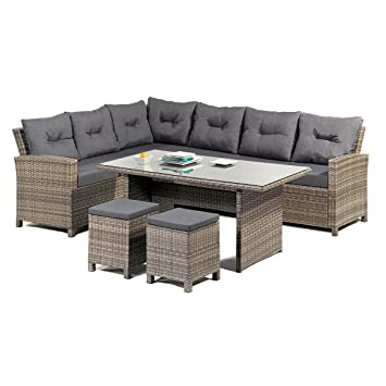 Amazon De Greemotion Rattan Lounge Set Melina Gartenmobel 5