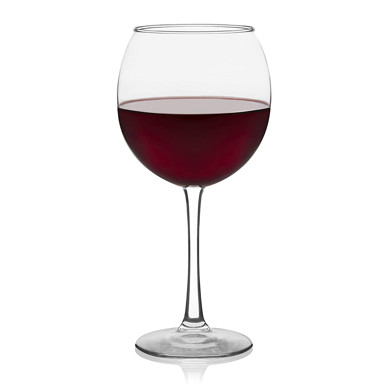 Amazon Com Libbey Vina Red Wine Glasses Set Of 6 Wine Glasses