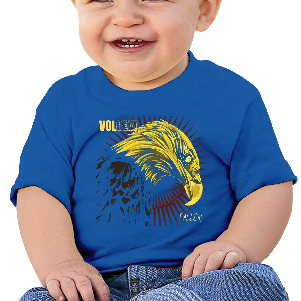 Volbeat Fallen Toddler Short-Sleeve Tee for Boy Girl Infant Kids T-Shirt On Newborn 6-18 Months