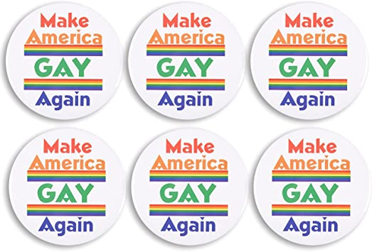 Make America Gay Again Anti-Trump LGBTQ Pride Enamel Pin
