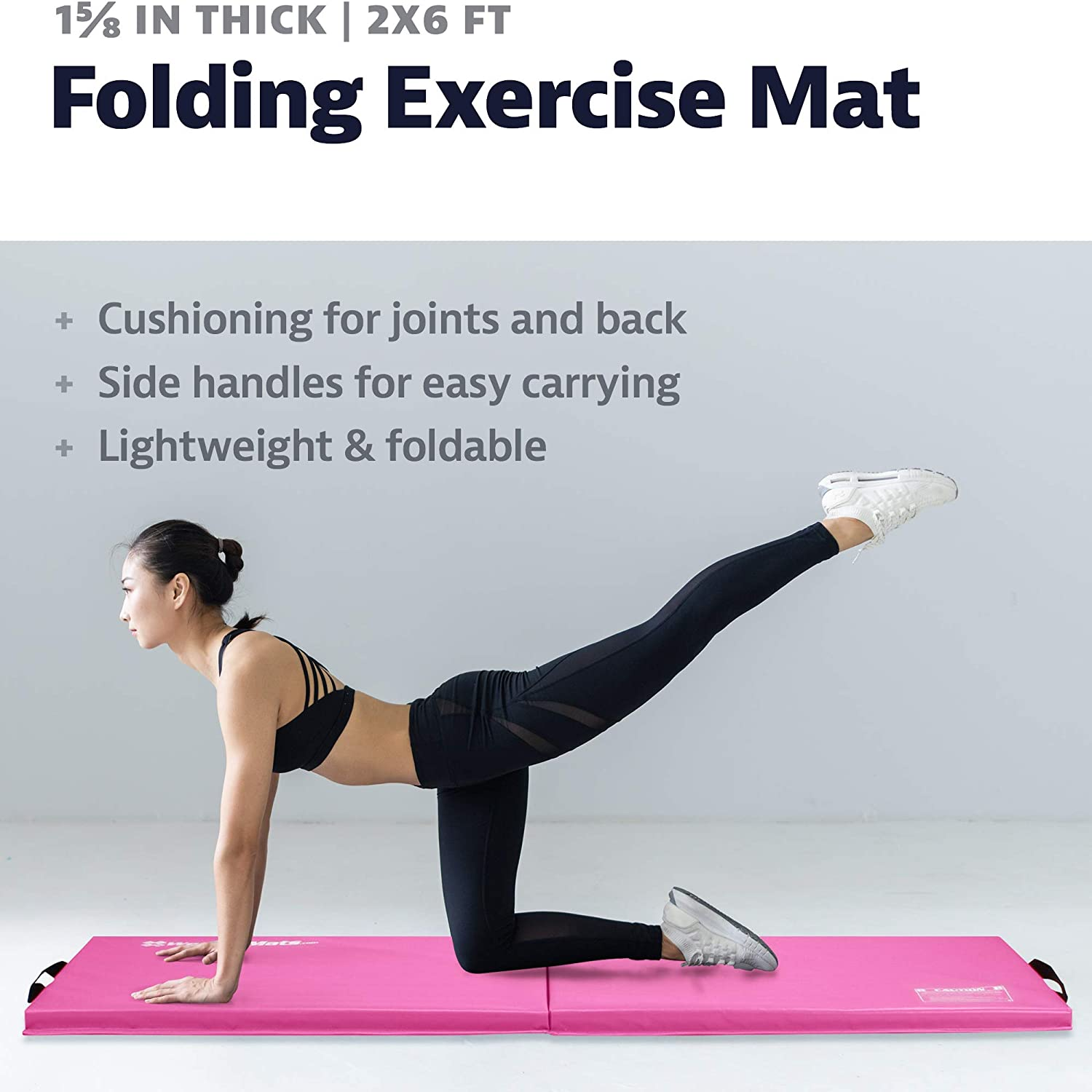 For Core Workouts Personal Fitness Gym Flooring MMA Gymnastics and Cheerleading Use We Sell Mats 2 ft x 6 ft x 1 5//8 in Personal Folding Exercise Mat