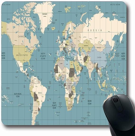 Alfombrillas para computadoras España Marrón Vintage Mapa del ...