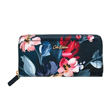 43470d3c Cath Kidston Paintbox Flowers Midnight Blue Continental Zip Wallet:  Amazon.co.uk: Luggage