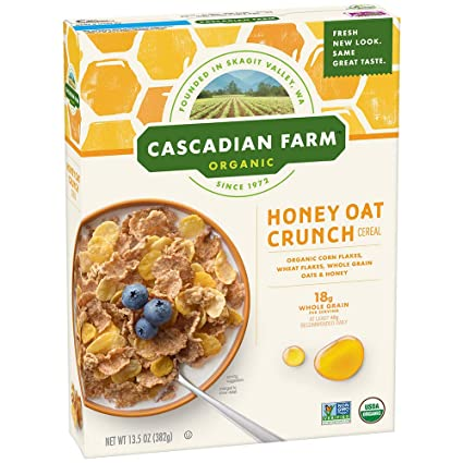 Cascadian Granja Miel orgánicos Avena Crunch Cereales 13,5 ...