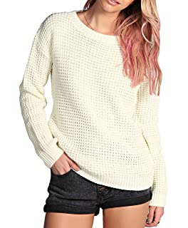 f7ed98c307f0 Made By PURL® Ladies New Plain Chunky Knit Loose Baggy Oversized ...