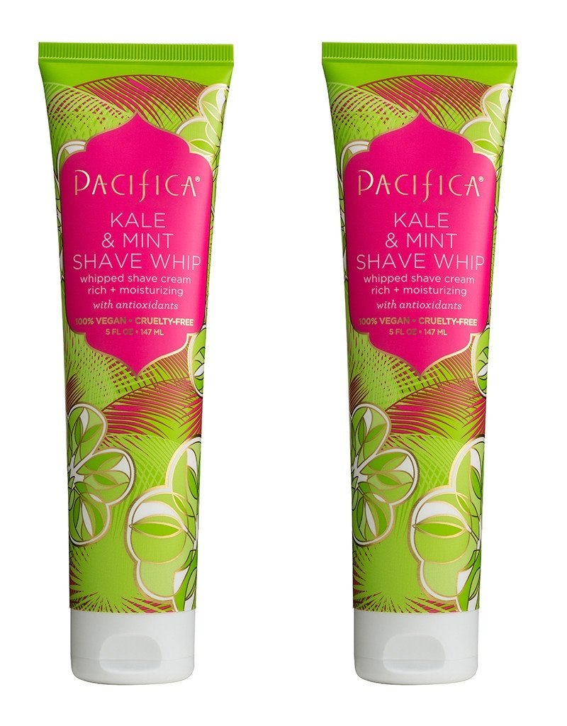 Pacifica Kale & Mint Shave Whip (Pack of 2) with Aloe Vera Leaf Juice, Coconut Water, Arnica Flower Extract, White Birch Extract, Kale Extract and Vitamin E, 100% Vegan and Cruelty-Free, 5 fl. oz. by Pacifica (Image #1)