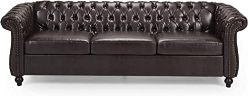 Christopher Knight Home Norma Sofas, Brown, Dark Brown