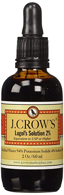 J.Crow's Lugol's Iodine Solution, 2 oz., Twin Pack (2 Bot.)