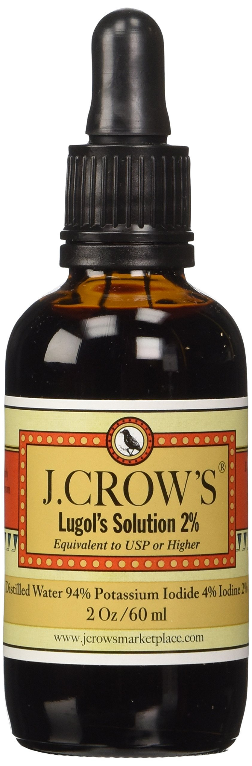 J.Crow's Lugol's Iodine Solution, 2 oz., Twin Pack (2 Bot.)