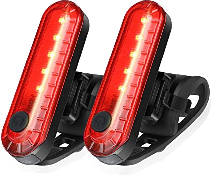 Rear Tail Bicycle Warning Light Rechargeable USB Charge Led Flash Lights