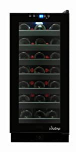 Vinotemp 33-Bottle Wine Cooler with Touch Screen Temperature Controls, Black