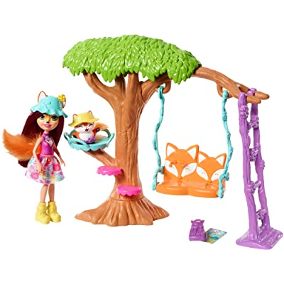Enchantimals Playground Adventures Playset + Felicity Fox Doll & Flick Figure: Toys & Games