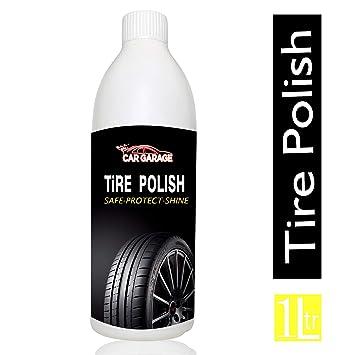 Car Garage Tire Polish-1L / Liquid/For all Car & Bikes/Deep rich black &  long lasting/UV protection formula/Easy to use/No harmful chemicals