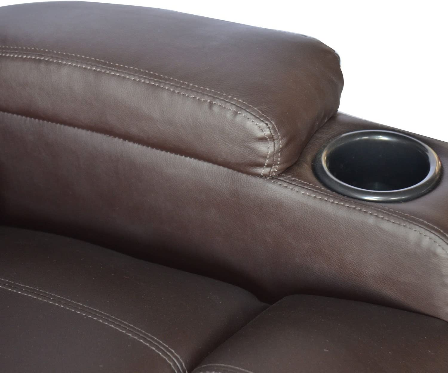 Homcom PU Leather Padded Recliner with cub holder