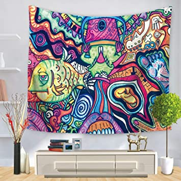 Tapisserie Tenture 3d Abstractpattern Fashion Colore Art