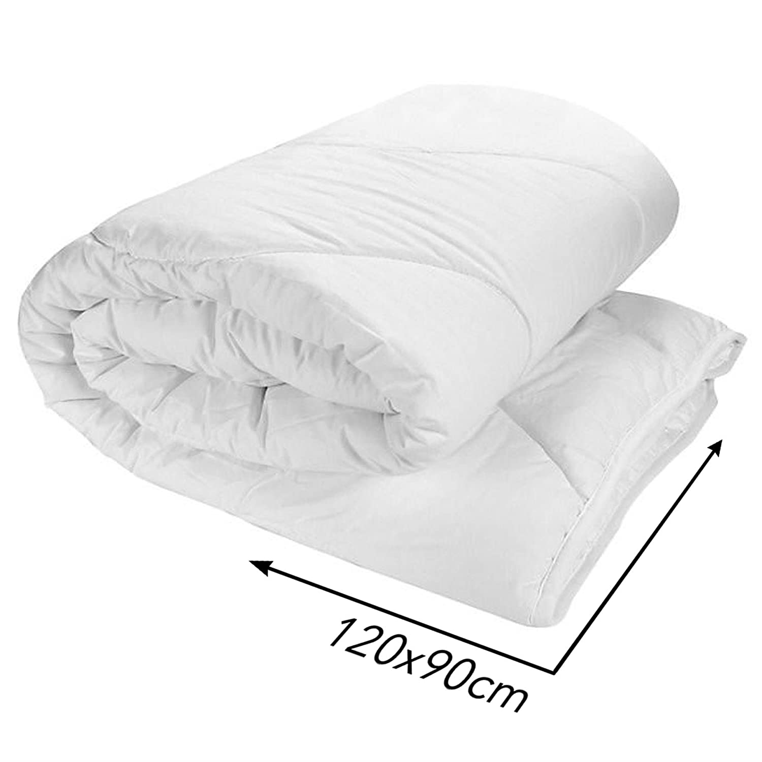 Anti-Allergy Cot Duvet Filling Quilt 120/90 cm for Nursery Baby Junior Toddler Baby Comfort
