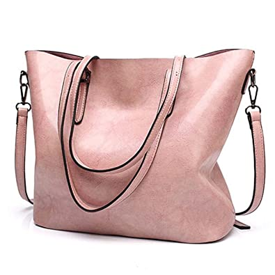 f21ff5de53 Amazon.com  Acereima Women Shoulder Bags NEW Fashion Women Handbags Large  Capacity Tote Bag Casual Pu Leather bag pink  Shoes