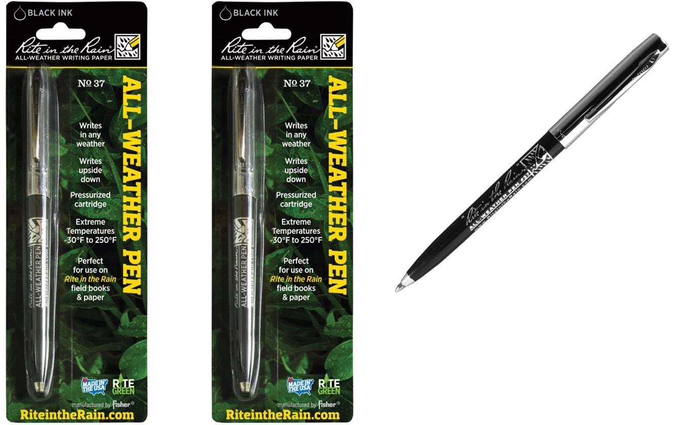 Rite in the Rain All Weather Pen no. 37 Black Ink - Pack of 2 by Rite In The Rain (Image #1)
