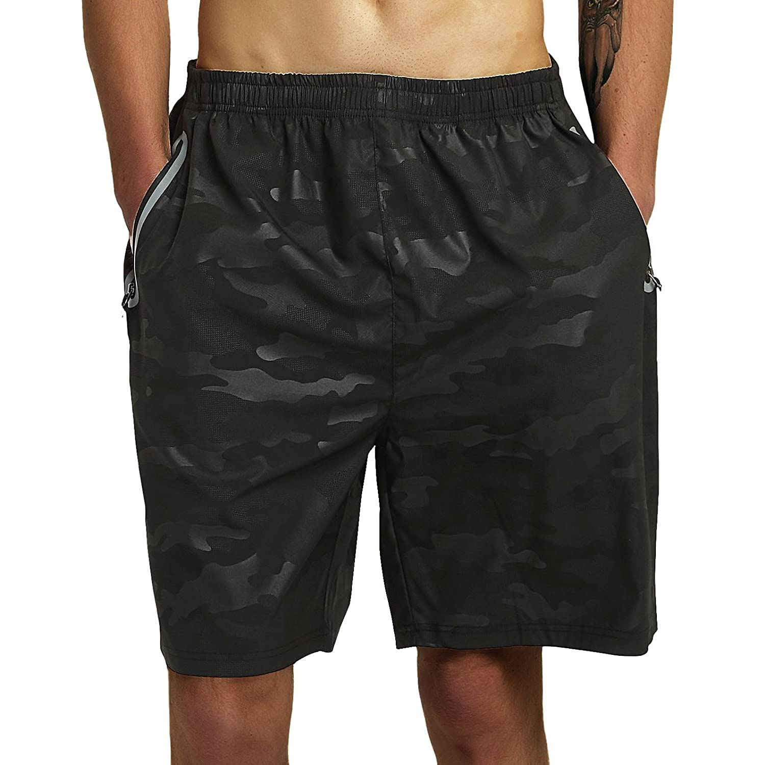 Gititlys Mens Gym Shorts for Men Elastic Waist - Quick Dry Stretchable for Running, Training, Workout Swim